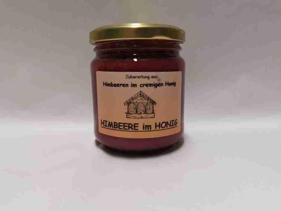 Himbeere im Honig