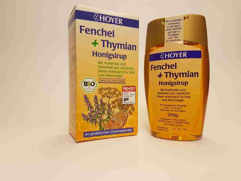 Fenchel und Tymian Honigsirup
